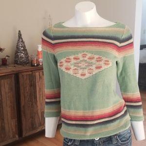 LRL Lauren Jeans Co. By Ralph Lauren aztec sweater